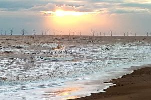 Anderby Creek beach at sunrise, taken by Jayne Anderson.