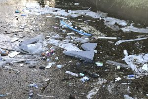 Concern has been raised about plastic waste in the Waterway in Skegness. ANL-190318-134244001