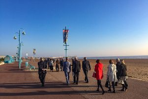 Members of the  House of Lords Select Committee on Regenerating Seaside Towns and Communities visiting Skegness in October.