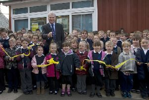 Canon Peter Staves, director of education at the diocese of Lincoln, at Halton Holegate Primary School 10 years ago.