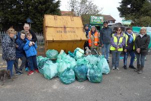 Litter pickers in Chapel St Leonards collected 43 bags of rubbish as part of the Great British Spring Clean. ANL-190804-081556001