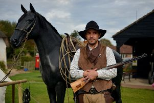 Wild West event at Skegness Village Church Farm museum. NNN-181013-220648002