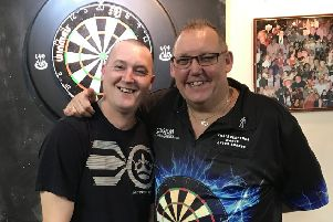 Carl Abbiss (left).
