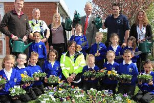 Pupils from Ingoldmells Primary School 10 years ago.
