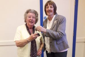 The presentation at the latest meeting of Spilsby WI.