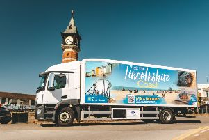 The lorry campaign artwork from Visit Lincs Coast (Lincolnshire Coastal BID) is helping to encourage visitors to the coast.