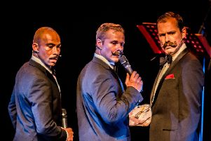 Jim Whitely (left) with other cast members starring in Crooners. EMN-190524-145156001