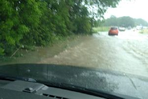 The Environment Agency is warning people not to drive through flood water.