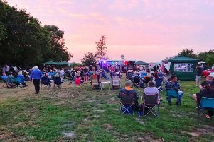 A snapshot of Anderby Rocks music festival at sunset last year.
