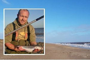 Wayne Sumner, pictured, is to take on an epic non-stop 48 hour fishing challenge at Winthorpe beach, Skegness, for charity.