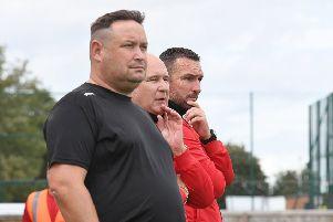 Chris Rawlinson, Nick Chapman and Nathan Collins are plotting a way to beat North Ferriby.