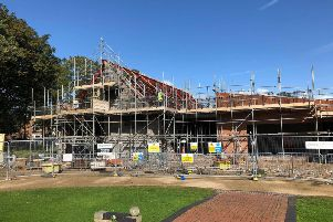 The new Tower Gardens Pavilion is taking shape.