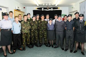 The 1073 Skegness Squadron Air Training Corps, 10 years ago.