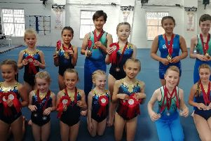 The successful East Coast Gymnastics youngsters.