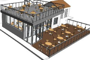 A sketch of how the new attraction will look once complete.