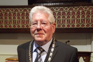 Mayor of Sleaford, Coun Keith Dolby. EMN-141218-143319001