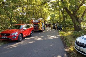 Police Fire and MOD working hard to ensure the safety of the public in Woodhall Spa. Photo: Lincolnshire Poilice