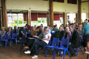 Members of the audience at last night's meeting.