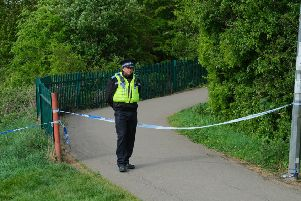 Police at the scene in New Waltham. (Credit:  Grimsby News And Pictures Facebook page).