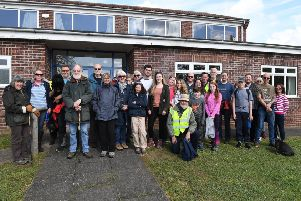 Sponsored walk from Wilsford Village Hall in aid of replacing the church roof. EMN-190705-092345001