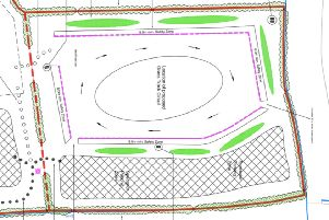 Grass track racing circuit plans for village