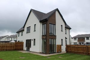 One of the new homes on Newfield Road, Sleaford. EMN-190618-160401001
