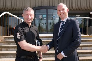 Lincolnshire Police Chief Constable Bill Skelly and Lincoln College Group Managing Director James Foster EMN-190726-105251001