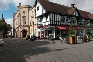 Outdoor cafe culture plans for Sleaford Market Place around the restored Bristol Water Fountain. EMN-190110-115605001