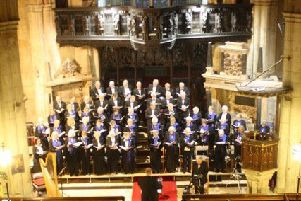 Sleaford Choral Society at last year's Christmas Concert. Picture: Sian Williams. EMN-190212-122215001