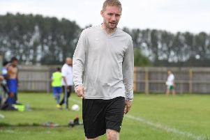 Jamie Shaw has twice played in defence this season, while Town's goalkeeper has also stood in as manager EMN-191012-082150002