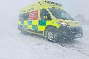 An EMAS ambulance ready for action in Sleaford. EMN-191218-163333001