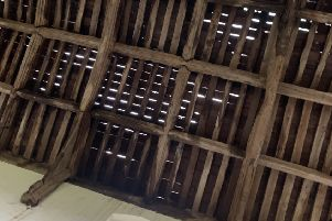 Pickworth Church roof after lead thieves struck. EMN-200901-124758001