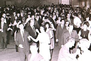 Revellers on the dance floor at Rauceby Hospital's New Year's Eve dance in 1970-71. EMN-200124-110931001
