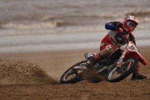 The 16-year-old has been in top form on the sand of Mablethorpe beach EMN-201202-163905002