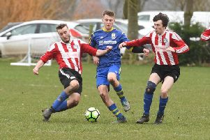 Park United 5 Billinghay Athletic 0. Match action by David Dawson