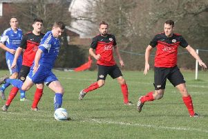 Lancing United action from earlier in the season. Picture by Derek Martin