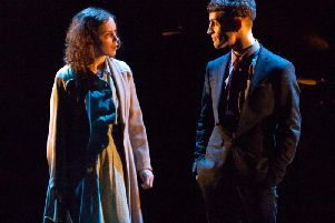 Sarah Middleton as Rose and Jacob James Beswick as Pinkie