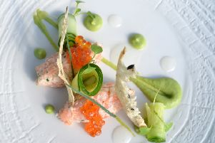 Smoked salmon and prawn rillette