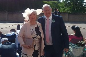 Steve Wise and his wife Sonia at the royal wedding. SUS-180521-122709001