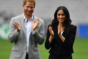Duke and Duchess of Sussex'' Dominic Lipinski/PA Wire SUS-180927-165041001