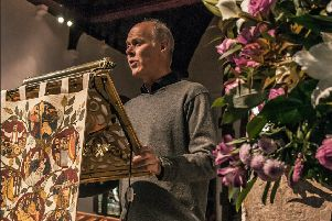 Jonathan White, who plays the Vicar in the play, in St Dunstan's Church, Mayfield. Picture by Kirsten Woodcraft