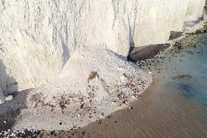 Birling gap cliff fall. Photo by Eddie Mitchell