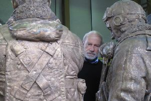 Philip Jackson with two castings