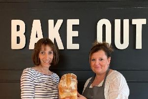Linda Kianfar, owner of Foodhaven and Sandra Harrison, manager Lewes Bake Out SUS-181022-103338001