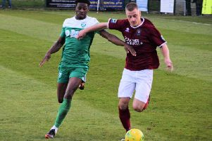 Mason Walsh on the ball for Bognor at Leatherhead / Picture by Darren Crisp