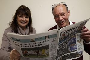Sussex Express reporters Susan King and Rupert Taylor
