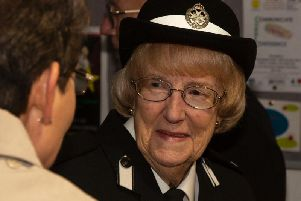 Margaret Skinner at the celebratory event at the James West Community Centre to mark her 70 years of service with St John Ambulance. Photograph: Mike Jones