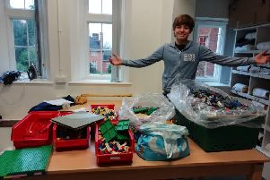 Levi Reid, a Christ's Hospital pupil, has received a cash boost to help him complete his Lego project which will see him build a replica of his school using 60,000 Lego bricks SUS-190201-150624001