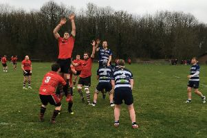 Lineout action. Picture by Dereck Wade
