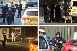 Armed police in Sussex